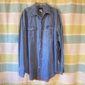 Wrangler Vintage Denim Pearl Snap Shirt
